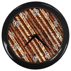Udan Liris Batik Pattern Wall Clocks (black)
