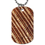 Udan Liris Batik Pattern Dog Tag (Two Sides) Front