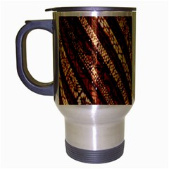 Udan Liris Batik Pattern Travel Mug (silver Gray)