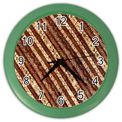 Udan Liris Batik Pattern Color Wall Clocks