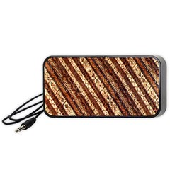 Udan Liris Batik Pattern Portable Speaker (black)
