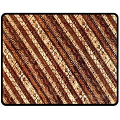 Udan Liris Batik Pattern Double Sided Fleece Blanket (medium)