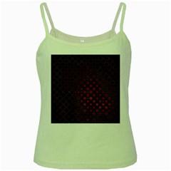 Star Patterns Green Spaghetti Tank