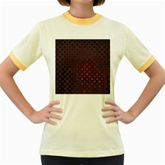 Star Patterns Women s Fitted Ringer T Shirts