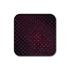 Star Patterns Rubber Square Coaster (4 Pack)