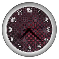 Star Patterns Wall Clocks (silver)