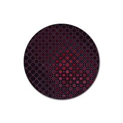Star Patterns Rubber Round Coaster (4 Pack)
