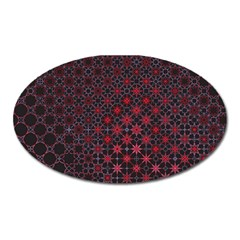 Star Patterns Oval Magnet