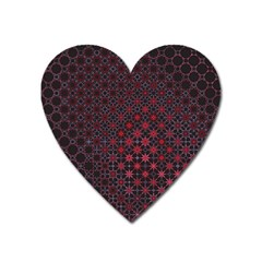 Star Patterns Heart Magnet