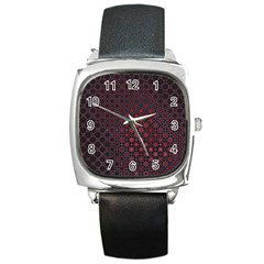 Star Patterns Square Metal Watch