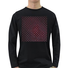 Star Patterns Long Sleeve Dark T Shirts