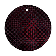 Star Patterns Round Ornament (two Sides)