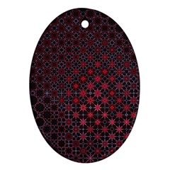 Star Patterns Oval Ornament (two Sides)