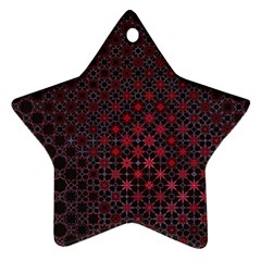 Star Patterns Star Ornament (two Sides)