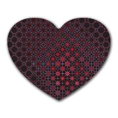 Star Patterns Heart Mousepads