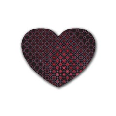 Star Patterns Heart Coaster (4 Pack)