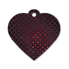 Star Patterns Dog Tag Heart (one Side)