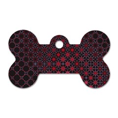 Star Patterns Dog Tag Bone (Two Sides)