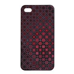 Star Patterns Apple Iphone 4/4s Seamless Case (black)