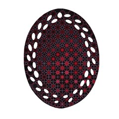 Star Patterns Oval Filigree Ornament (two Sides)
