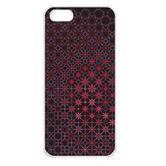 Star Patterns Apple iPhone 5 Seamless Case (White)