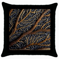 Trees Forests Pattern Throw Pillow Case (black)