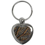 Trees Forests Pattern Key Chains (Heart)  Front