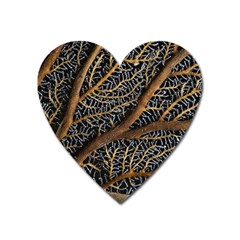 Trees Forests Pattern Heart Magnet