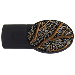 Trees Forests Pattern Usb Flash Drive Oval (2 Gb)