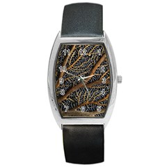Trees Forests Pattern Barrel Style Metal Watch
