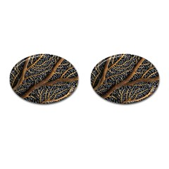Trees Forests Pattern Cufflinks (oval)