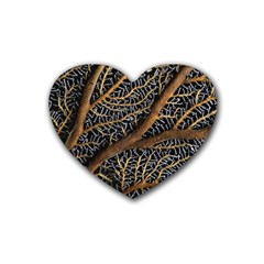 Trees Forests Pattern Heart Coaster (4 pack)