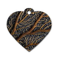 Trees Forests Pattern Dog Tag Heart (one Side)