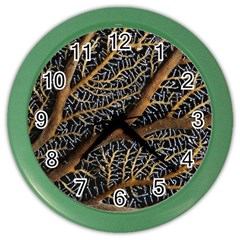 Trees Forests Pattern Color Wall Clocks