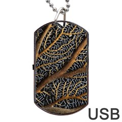 Trees Forests Pattern Dog Tag USB Flash (Two Sides)