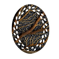 Trees Forests Pattern Oval Filigree Ornament (Two Sides)