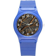 Trees Forests Pattern Round Plastic Sport Watch (s)