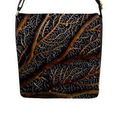 Trees Forests Pattern Flap Messenger Bag (l)