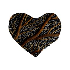 Trees Forests Pattern Standard 16  Premium Flano Heart Shape Cushions
