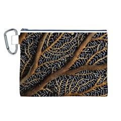 Trees Forests Pattern Canvas Cosmetic Bag (l)