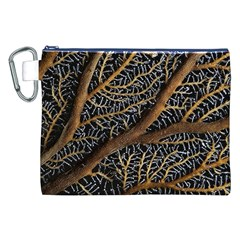Trees Forests Pattern Canvas Cosmetic Bag (xxl)