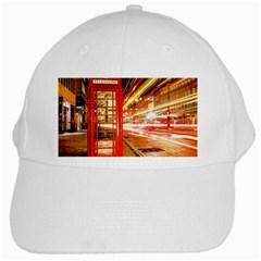 Telephone Box London Night White Cap