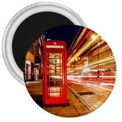 Telephone Box London Night 3  Magnets
