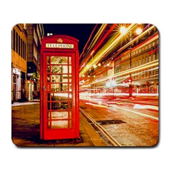 Telephone Box London Night Large Mousepads