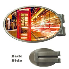 Telephone Box London Night Money Clips (oval)