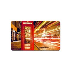 Telephone Box London Night Magnet (name Card)