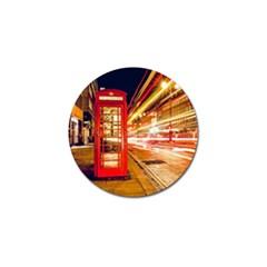 Telephone Box London Night Golf Ball Marker (10 Pack)