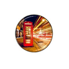Telephone Box London Night Hat Clip Ball Marker (4 Pack)