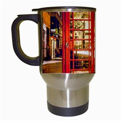Telephone Box London Night Travel Mugs (white)
