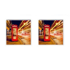 Telephone Box London Night Cufflinks (square)
